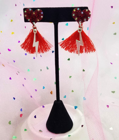 EKC x Rolita Couture Electric Love Tassel Studs
