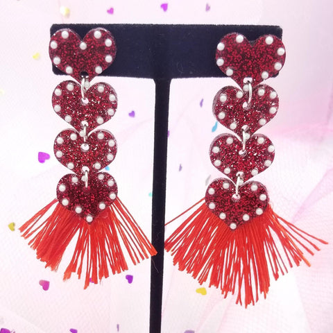 EKC x Rolita Couture All You Need Is Love Fringe Earrings