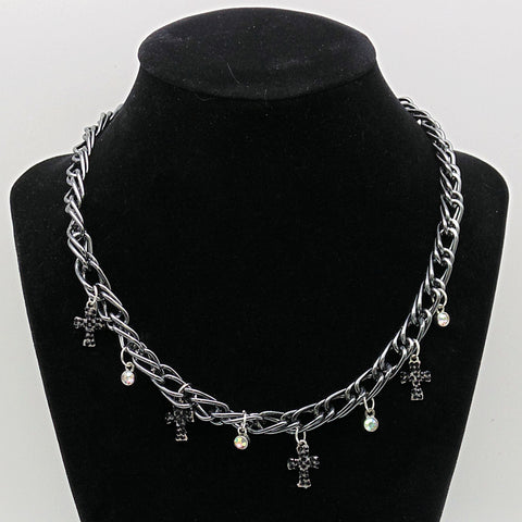 Black Cross Chain Choker