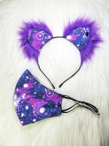 Galaxy Kitten Mask and Ears