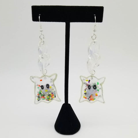 Cutest Little Baby Ghost Shaker Earrings