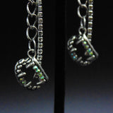 Halloween Chain Drop Charm Earrings