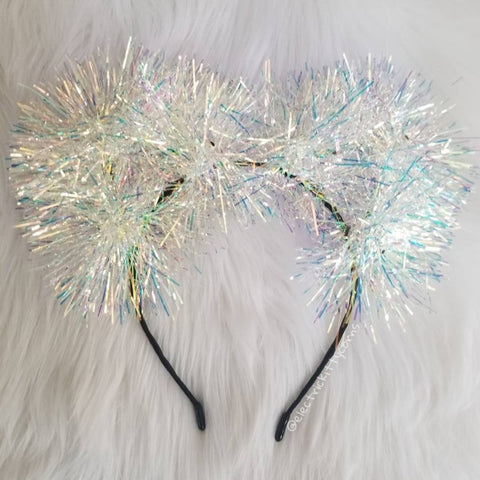 Snow Queen Iridescent Sparkle Kittycorn Ears