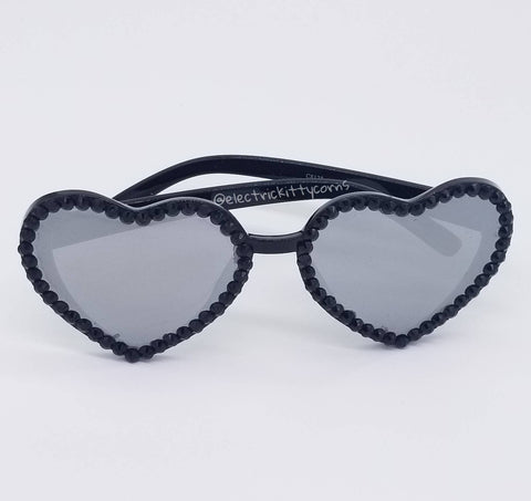 Black Studded Heart Kittycorn Sunnies