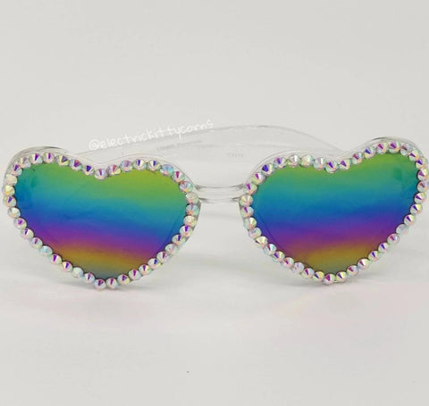 Studded Love Heart Kittycorn Sunnies