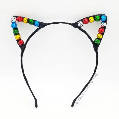 Rainbow Slay Bells Ring Kittycorn Ears (More Colors Available)