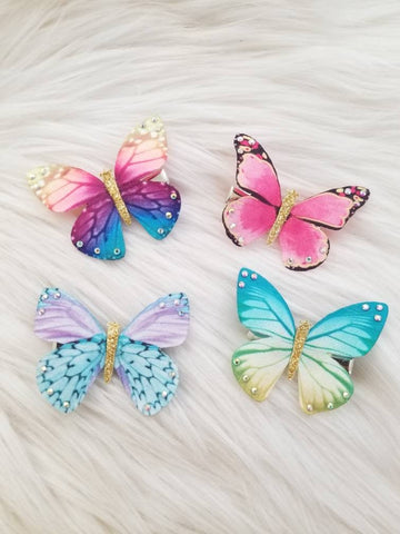 Studded Butterfly Kisses Hair Clips