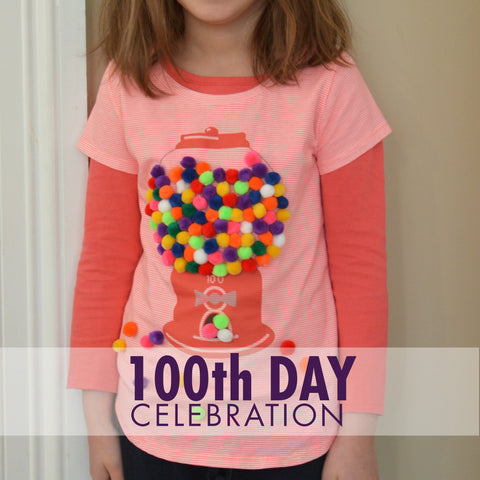 100th Day Gumball Iron On  - Printable