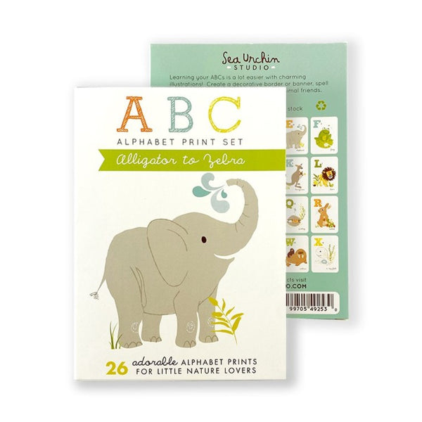 ABC Card Set | Alligator to Zebra