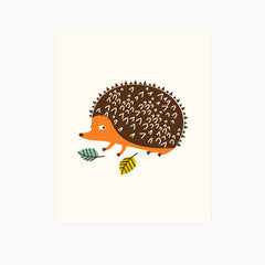 Woodland Hedgehog Art Print