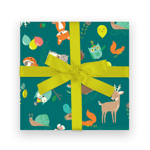 Gift Wrap - Forest Party