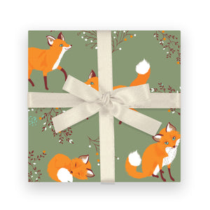Gift Wrap - Little Foxes