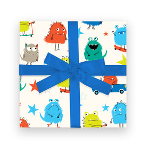 Gift Wrap - Monsters