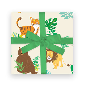 Gift Wrap - Lions Tigers Bears