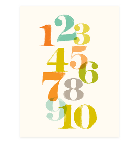 123 | Just Numbers Wall Art