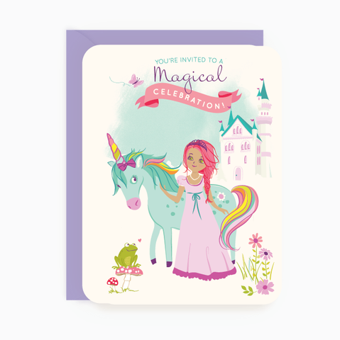 Party Invites - Princess & Unicorn