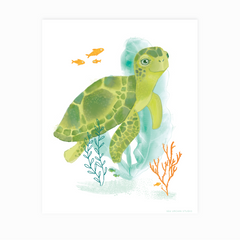 Turtle Watercolor Print