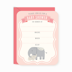 Party Invites - Elephant