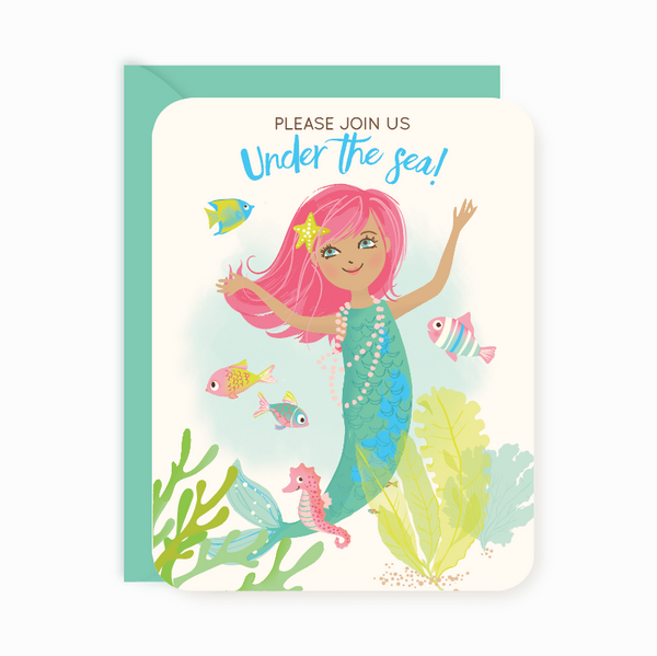 Party Invitations - Mermaid