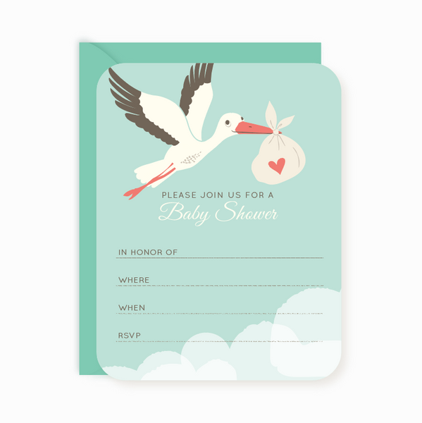 Kids Party Invitations Thank You notes for kids – Stork Party Invites