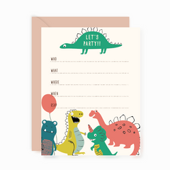 Party Invites - Dinosaurs