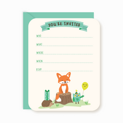 Party Invites - Woodland Forest