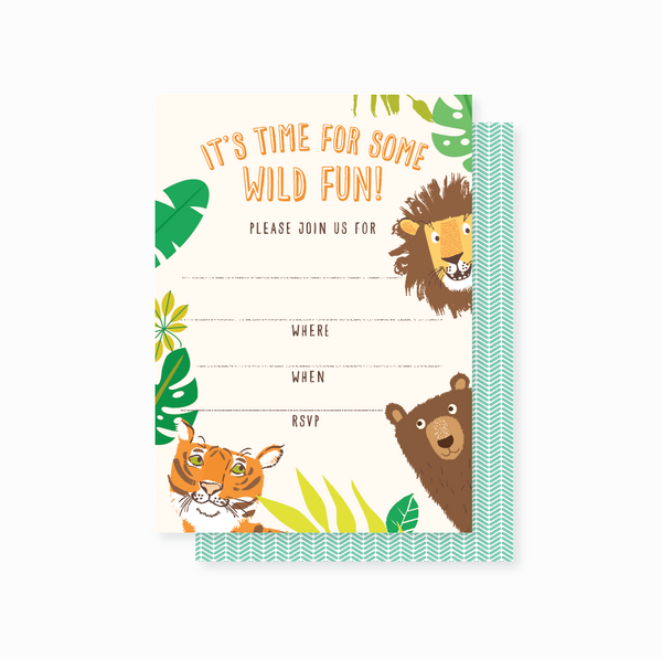 Party Invites - Lions, Tigers, Bears