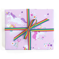 Gift Wrap - Unicorns and Rainbows