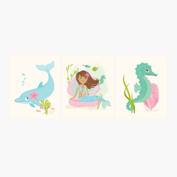 Mermaid Print Set