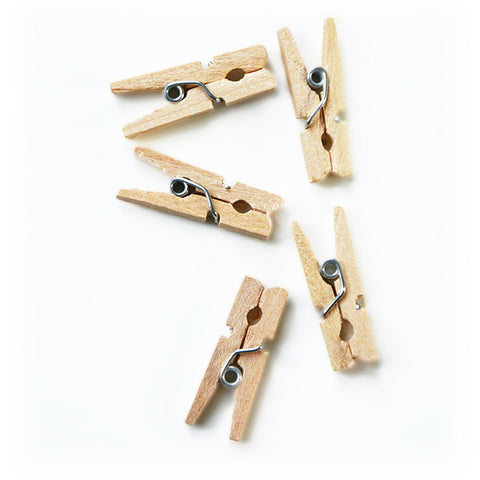 Mini Wood Clothes Pins