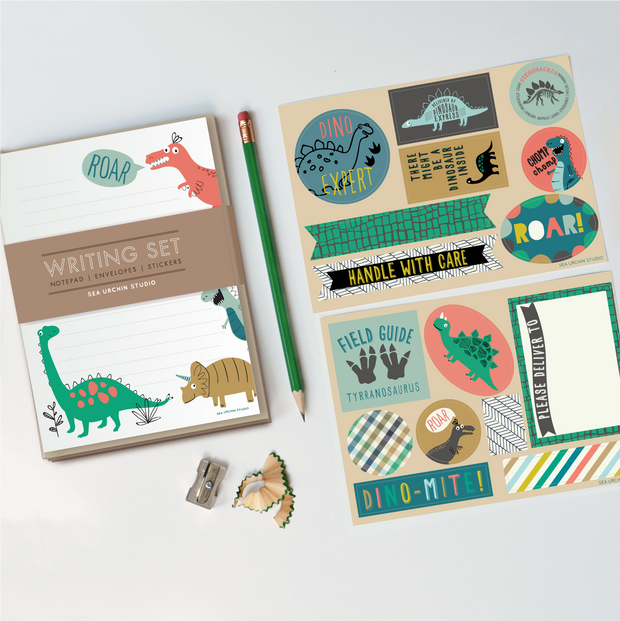 Writing Stationery Set | Dinosaur 1