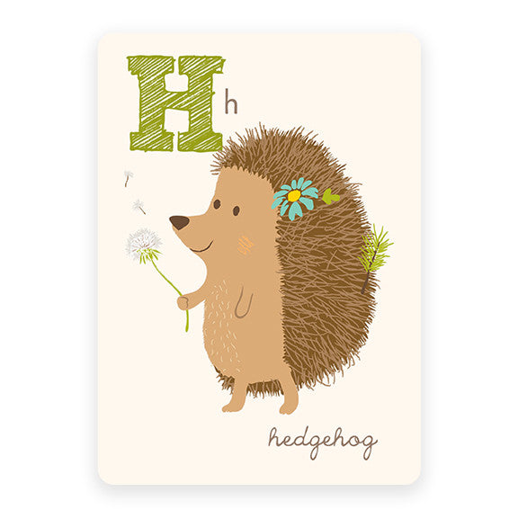 Hedgehog | ABC Card
