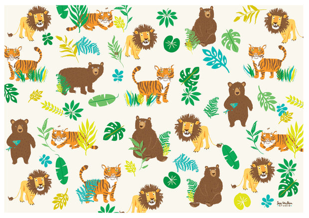 Gift Wrap - Lions Tigers Bears 1