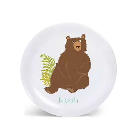 Kids PLATE - Personalized Bear Dish for kids