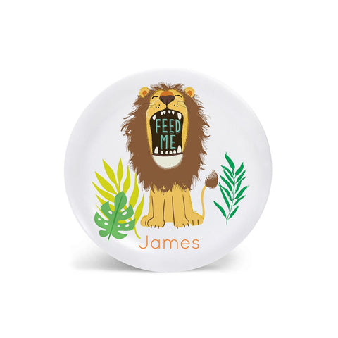 Kids PLATE - Personalized Lion Dish for kids