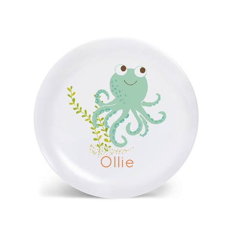 Kids PLATE - Personalized Octopus Dish for kids - Ocean Sea