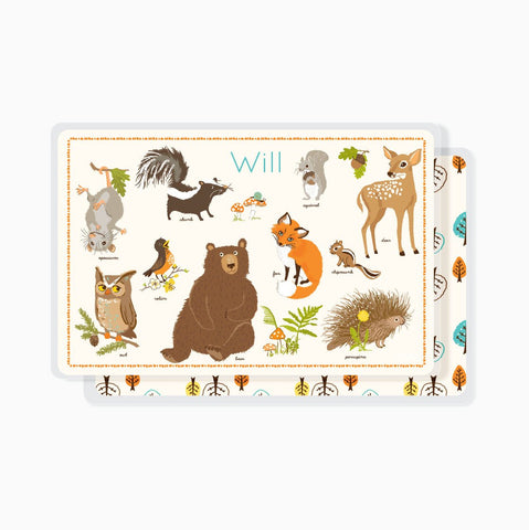 PLACEMAT - Personalized for kids - Woodland forest placemat