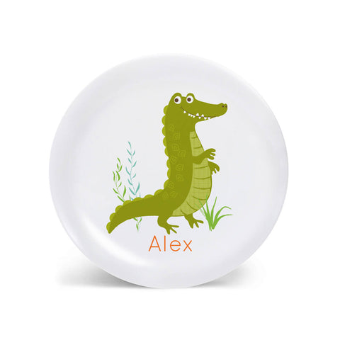 Kids PLATE - Personalized Alligator plate for kids, Dish, baby gift