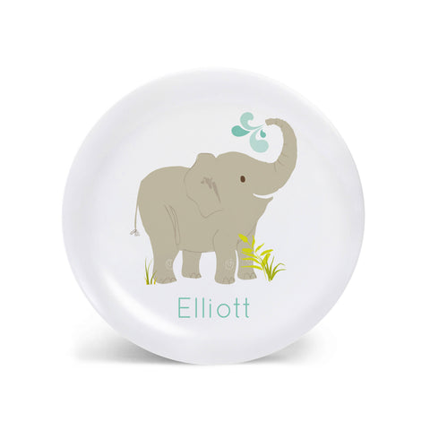 Kids PLATE - Personalized Elephant Dish for kids
