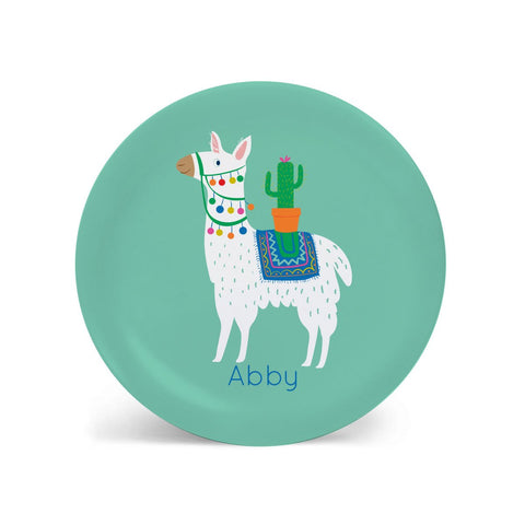 Kids PLATE - Personalized Llama Dish for kids, alpaca, vicunya