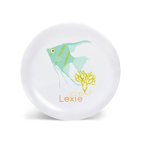 Kids PLATE - Personalized Angel Fish