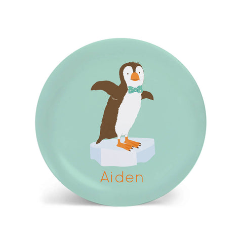 Kids PLATE - Personalized Penguin Dish for kids - Ocean Sea