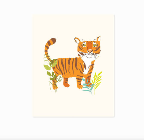 Tiger - safari zoo art print 8x10 - nursery art for children