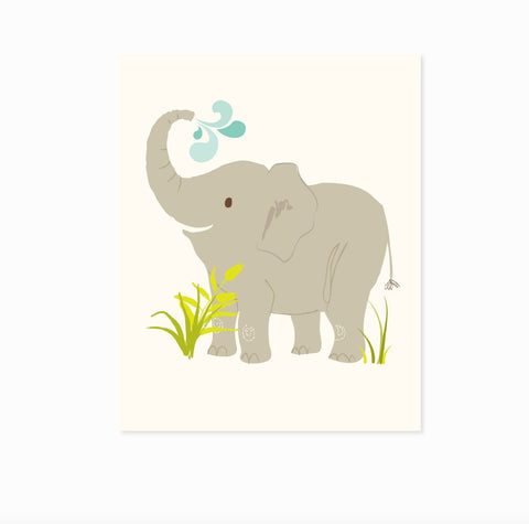 Elephant - safari zoo wall art, nursery wall decor for children