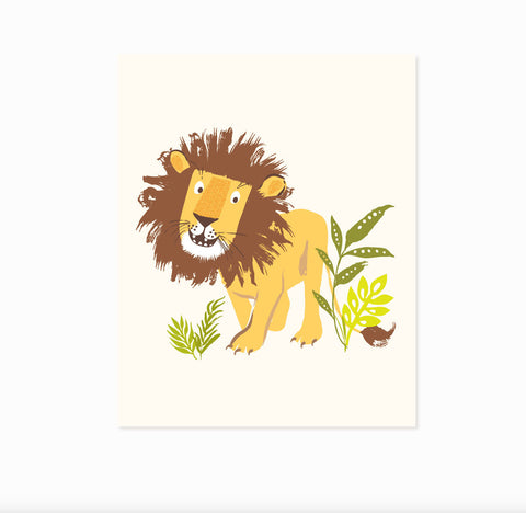 Lion wall art - safari, zoo, nursery wall decor for children