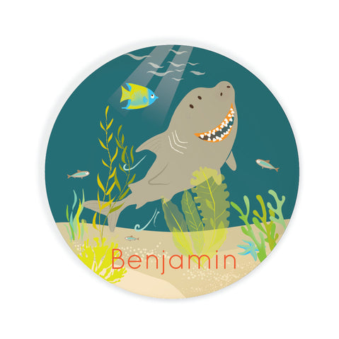 Kids PLATE - Personalized Shark Dish for kids