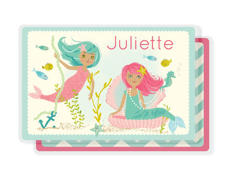 Kids PLACEMAT - Personalized for kids - mermaid placemat