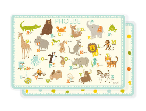 PLACEMAT for kids - Personalized Alphabet ABC placemat