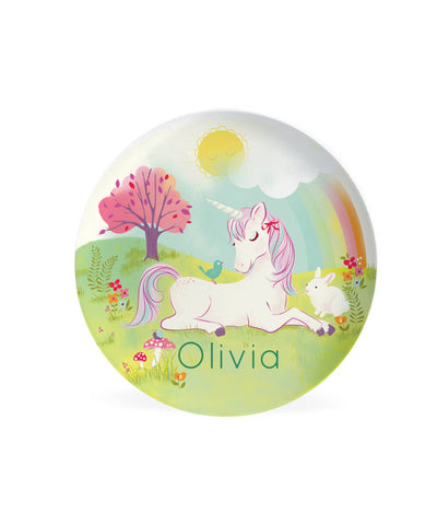 Kids Unicorn PLATE - Personalized Unicorn Dish for Kids