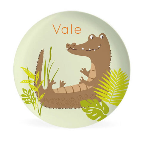KIDS PLATE - Personalized Crocodile Dish for kids